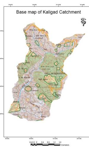 Base Map of Kaligad Catchment