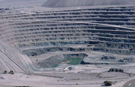 Open pit copper mine at Chuquicamata