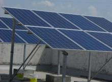 Rooftop Mounted Solar Panels
