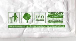 Green packaging symbols