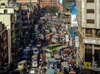Busy Street in Nairobi, Kenya