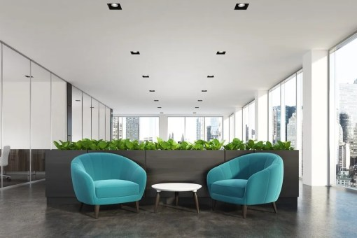 lobby with chairs