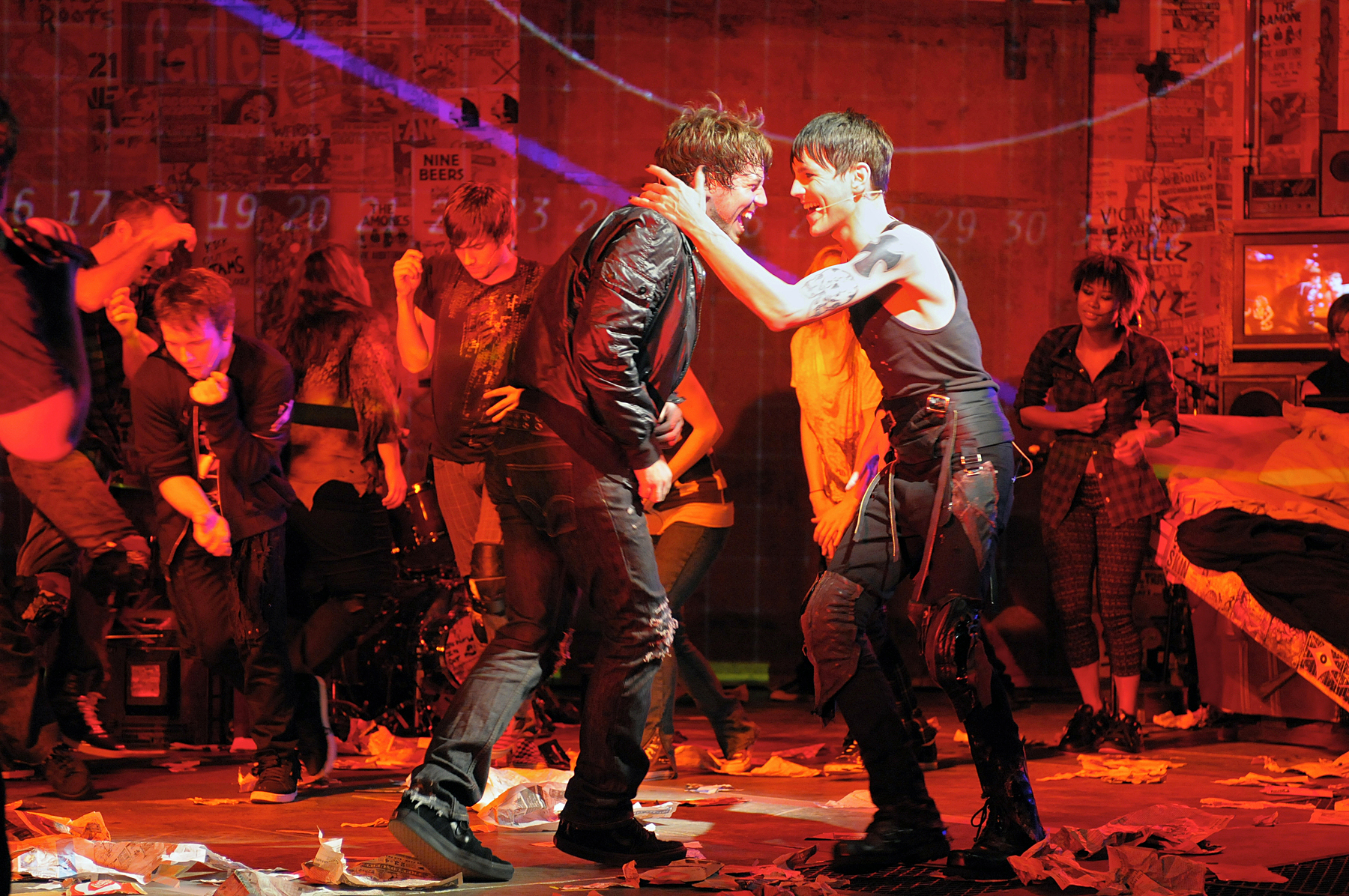 Tony Vincent and John Gallagher, Jr. in Green Day's American Idiot