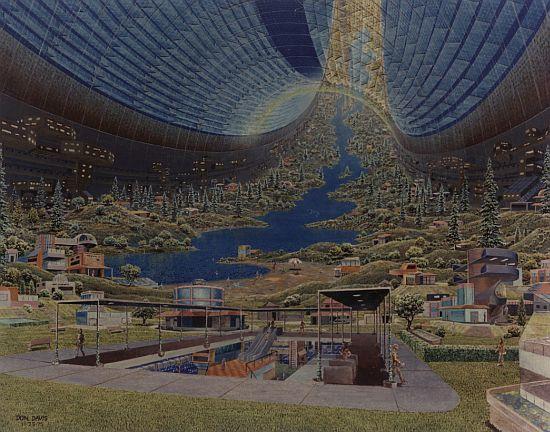 1970s space colony art by nasa 10