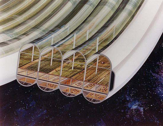 1970s space colony art by nasa 3