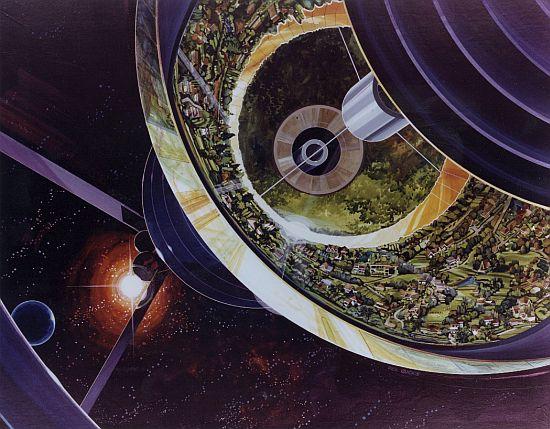 1970s space colony art by nasa