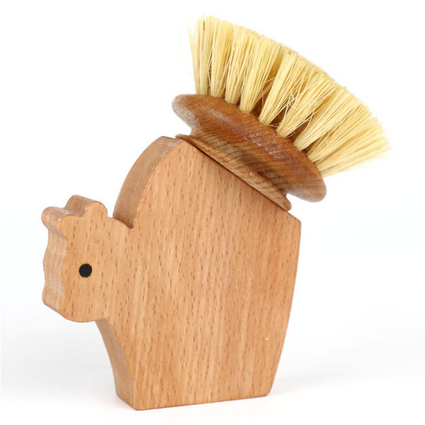 squirrel shaped beech wood brush