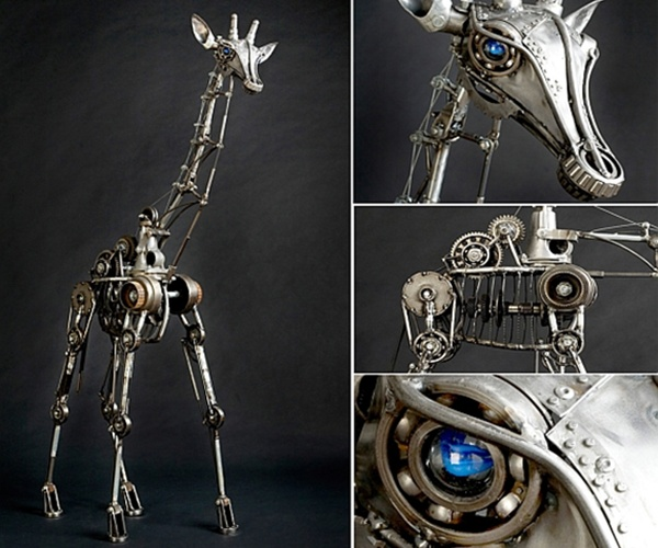 Andrew Chase's kinetic animal sculpture