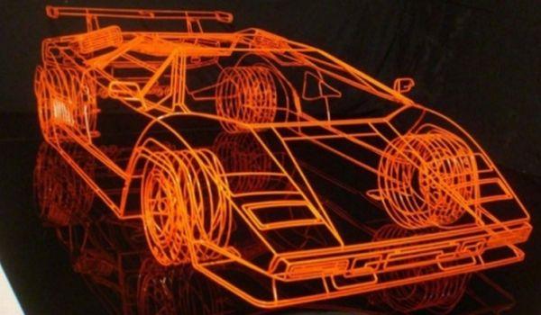 Benedict Radcliffe's Wireframe Lamborghini Countach