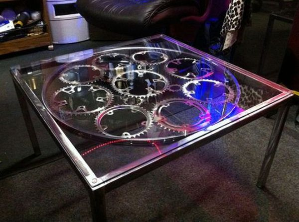 Bike Chain Ring Coffee Table