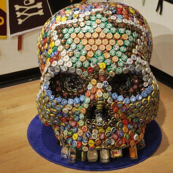 bottle cap skull 1
