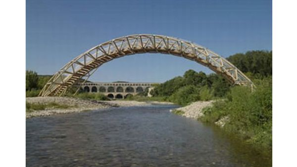 Bridge Made of Recycled Paper Tubes