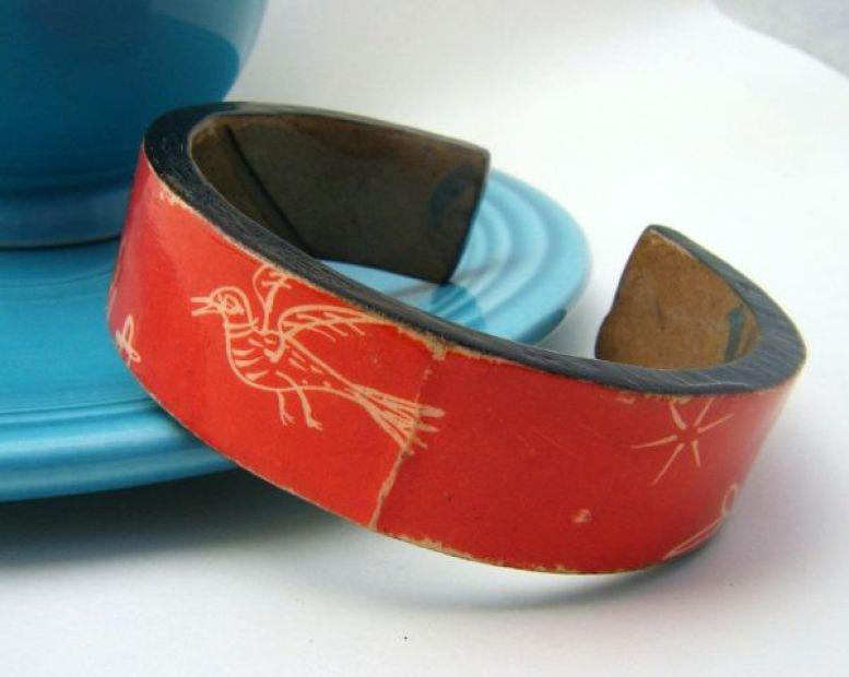 Cardboard cuff bracelet