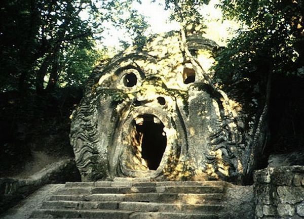 Cave-house in shape of a human face