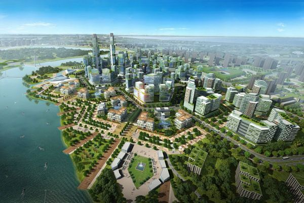 Chinese green city of Tianjin