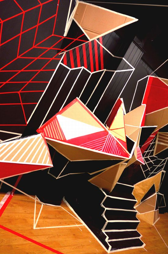 clemens behr recycled cardboard origami art 4