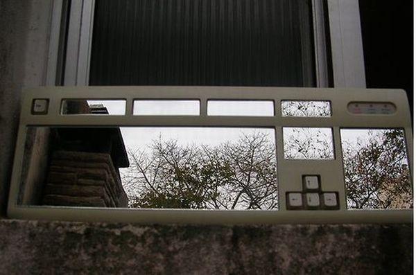 Computer keyboard mirror