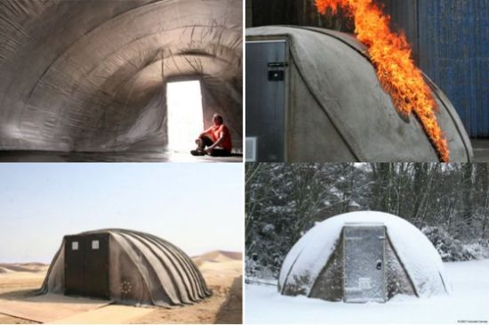 concrete canvas secure lasting shelter made of air