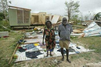 devastation by cyclone monica