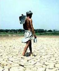 drought struck india