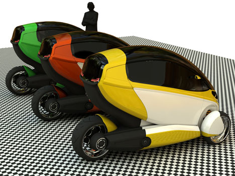 e true ev concept gets going on three wheels 1