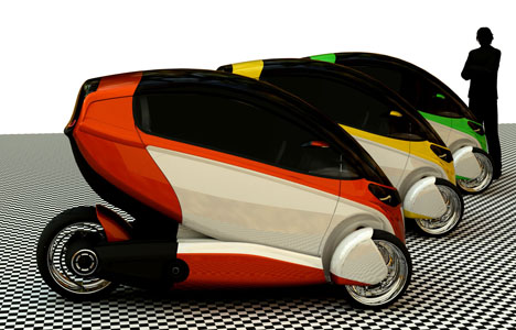 e true ev concept gets going on three wheels 2