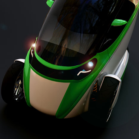 e true ev concept gets going on three wheels 4