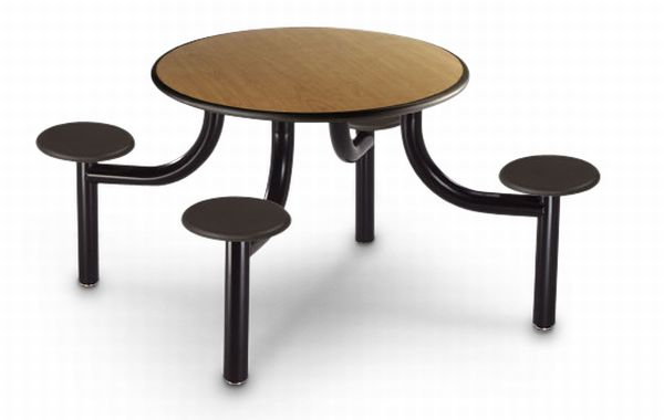eco friendly fixed seating cafeteria table 2