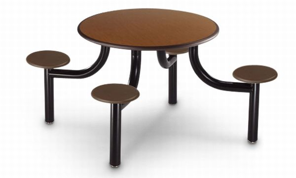 eco friendly fixed seating cafeteria table 3