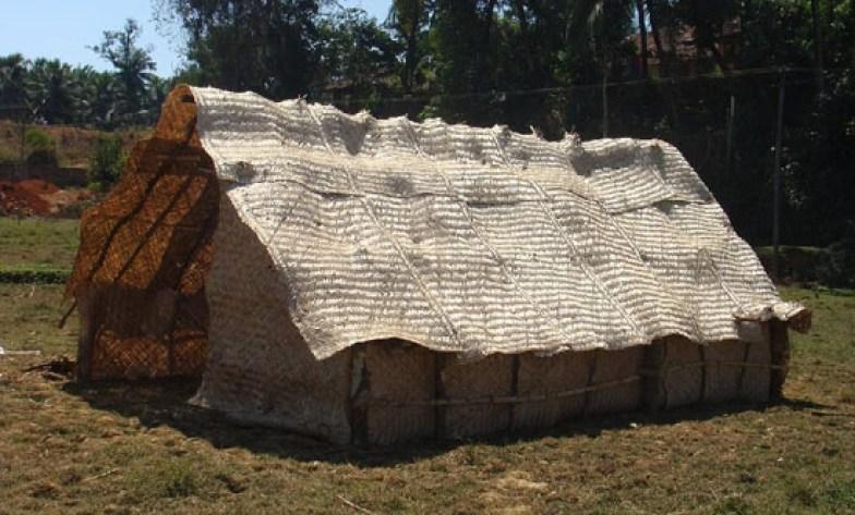 Contemporary style bamboo hut