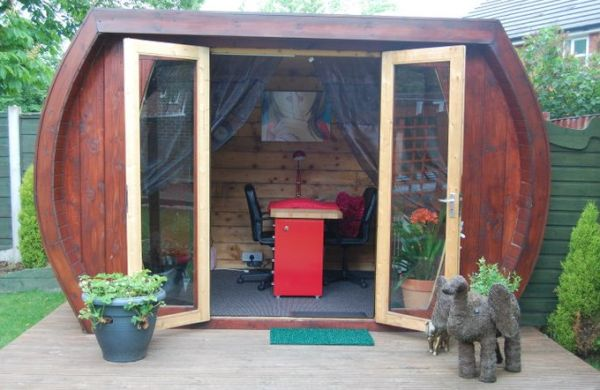 Attractive Eco Shed Turned Nail Salon 1