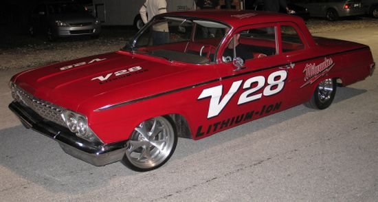 ectric 1962 chevy bel air drag racer