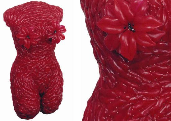female torsos recycled material 5