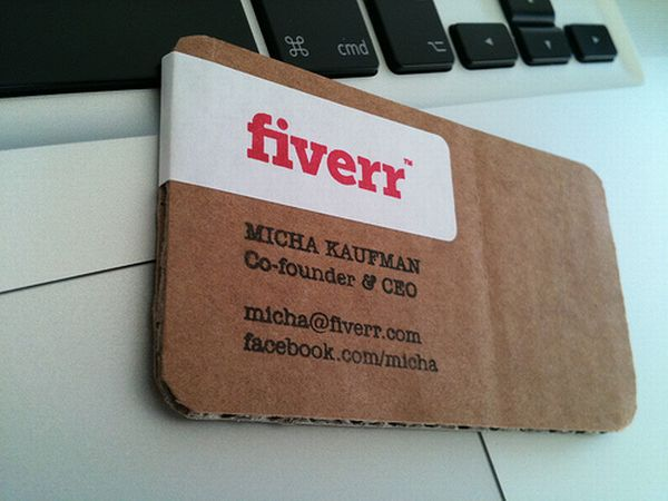 10 green business cards made using recycled paper green diary this is one of the best eco friendly business card it was made by the co founder of fiverr micha kaufman these are made by using corrugated rubber reheart Image collections