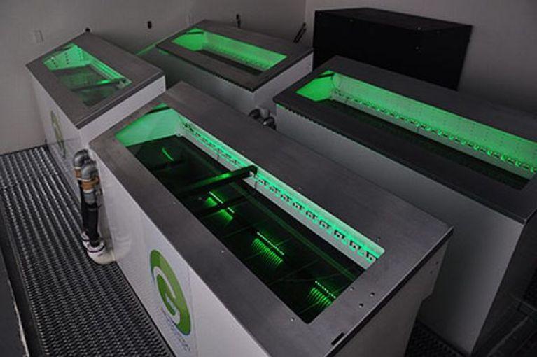 Fluid-submerged data-center