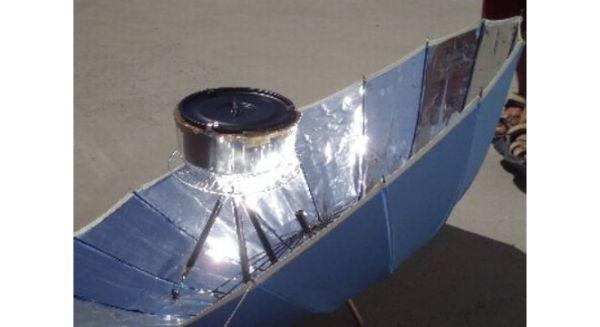 Foil umbrella solar stove