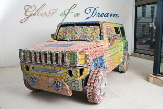 ghost of a dream recycled lottery tickets art 1