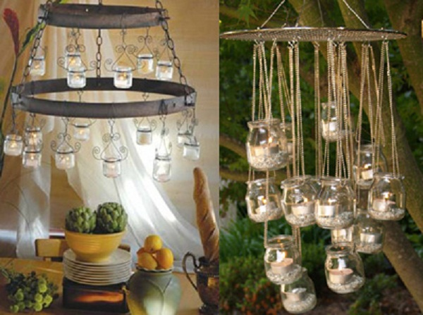 glass jar chandeliers