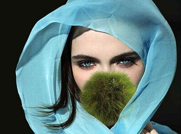 Green screen face mask