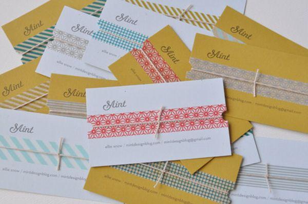 Handmade paper business card