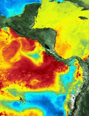 heat map around galapagos and cocos island 9