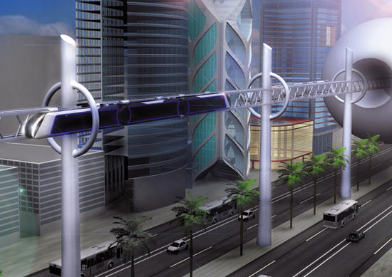 high tech train system