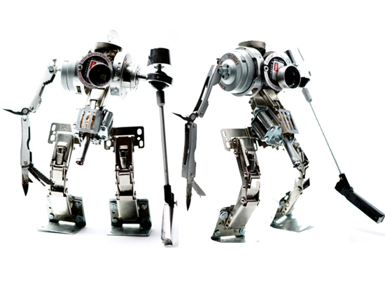 himatic recycled robotic sculpture 2