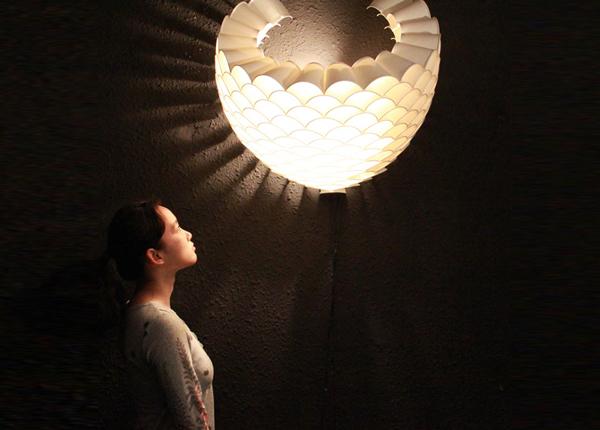 Honeycomb wall lamps