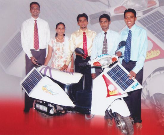 indian students create tribrid two wheeler