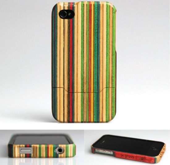 iphone 4 case made from recycled skateboard