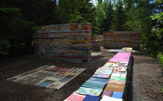 jardin de la connaissance book installation 4