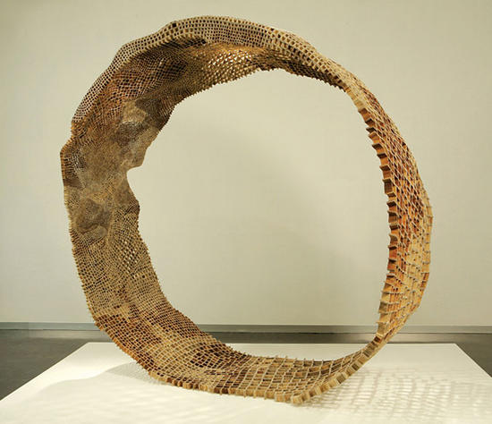 john grade creates sculptures from cellulose seeds