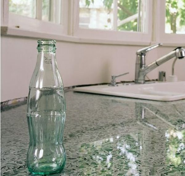 Kitchen Counters from recycled glass