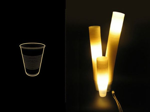 Lamps Made of Drinking Cups